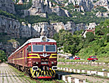 Train at Gara Lakatnik station